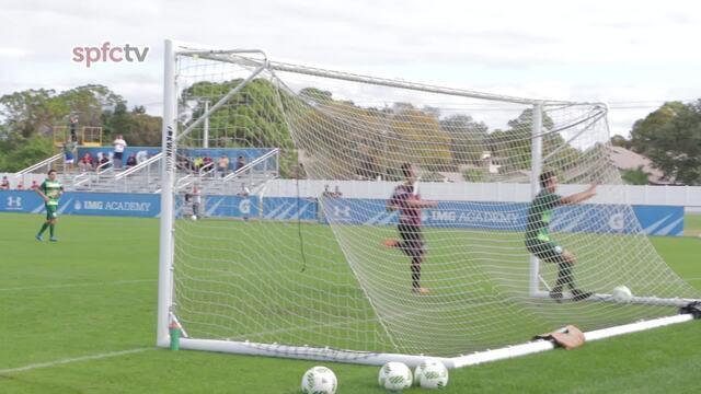 Os gols do jogo-treino São Paulo 9x2 Boca Raton (EUA)