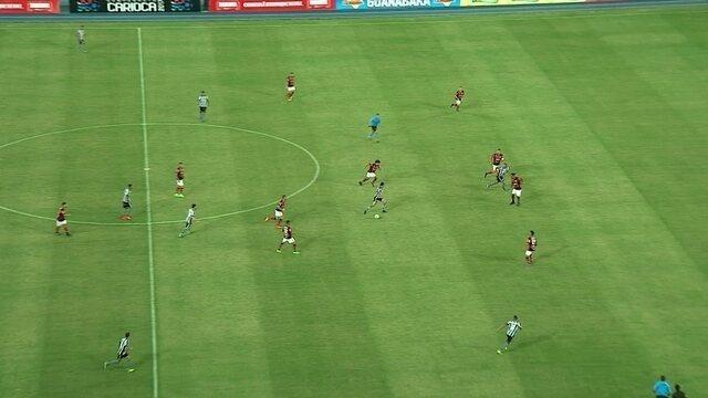 Os gols de Botafogo 1 x 2 Flamengo pela 4ª rodada do Campeonato Carioca