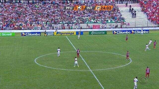 Confira os gols de Passo Fundo 2 x 2 Inter, pelo Gauchão