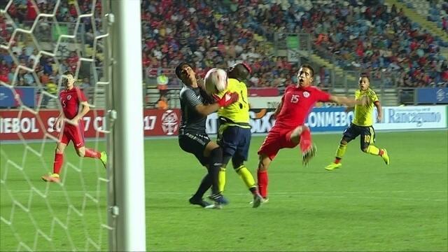 Os gols de Chile 1 x 1 Colômbia pelo Sul-Americano sub-17