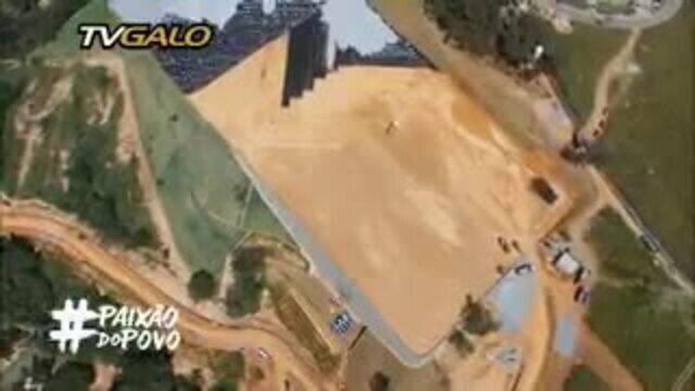 Confira imagens aéreas da obra de ampliação da Cidade do Galo