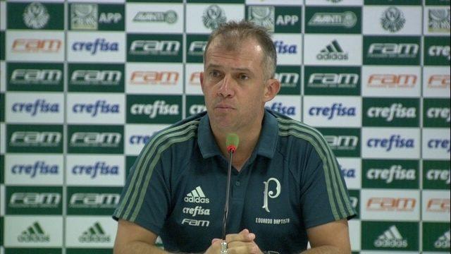 Veja a entrevista coletiva do técnico do Palmeiras, Eduardo Baptista