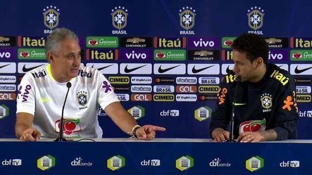 Tite fala sobre Neymar na entrevista coletiva desta segunda