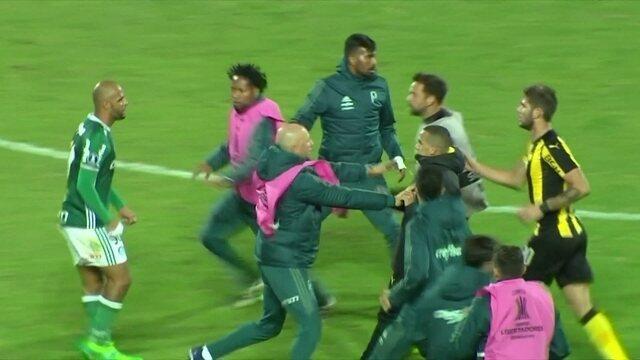 PC Vasconcellos pede punição após brigas entre Palmeiras e Peñarol na Libertadores