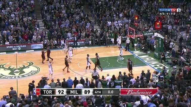 Melhores momentos de Toronto Raptors 92 x 89 Milwaukee Bucks pela NBA