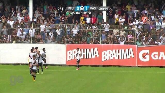O gol de Fluminense 0 x 1 Vasco pela final da Taça Guanabara sub-20
