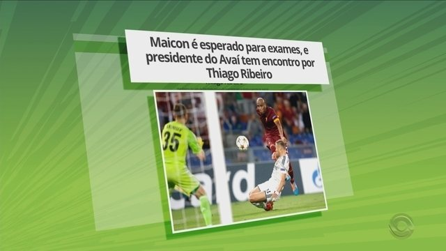Maicon é esperado para exames, e presidente do Avaí tem encontro por Thiago Ribeiro