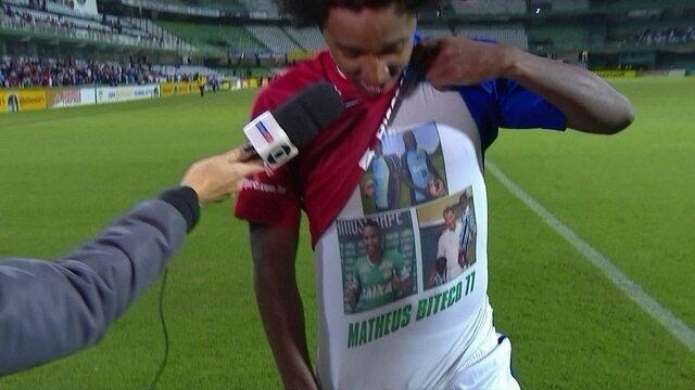Guilherme Biteco dedica gols ao irmão Matheus Biteco morto no acidente da Chapecoense