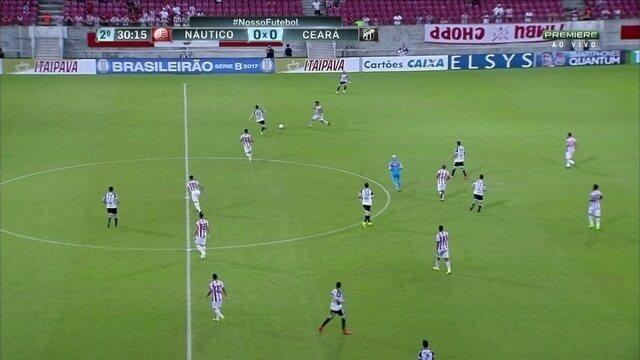 Aos 30' do 2T, Roberto abre o placar para o Ceará