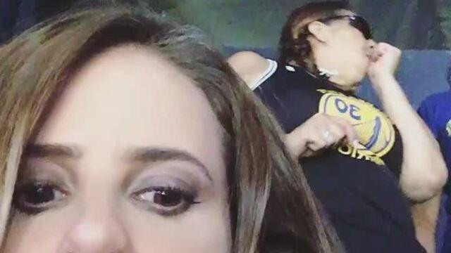 Joanna de Assis registra torcedora cega que foi ao jogo para sentir o clima na arena