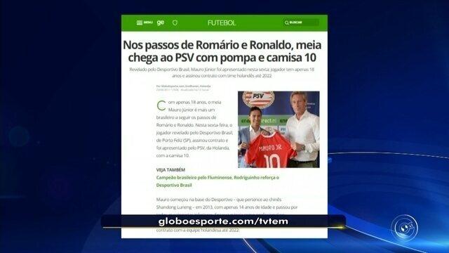 Nos passos de Romário e Ronaldo, meia chega ao PSV com pompa e camisa 10