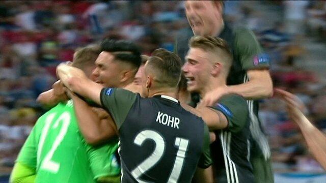 Os gols de Inglaterra (3) 2 x 2 (4) Alemanha pela semifinal da Eurocopa Sub-21