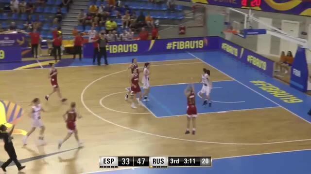Rússia marca cesta de três contra no Mundial de basquete feminino Sub-19
