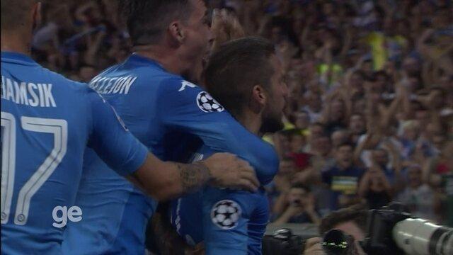 Os gols de Napoli 2 x 0 Nice pelos playoffs da Liga dos Campeões da Europa