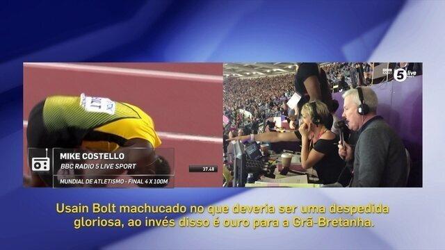 Equipe da BBC enlouquece ao narrar prova de despedida de Bolt