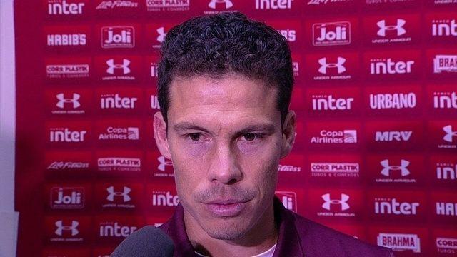 Hernanes analisa o empate do São Paulo com o Avaí