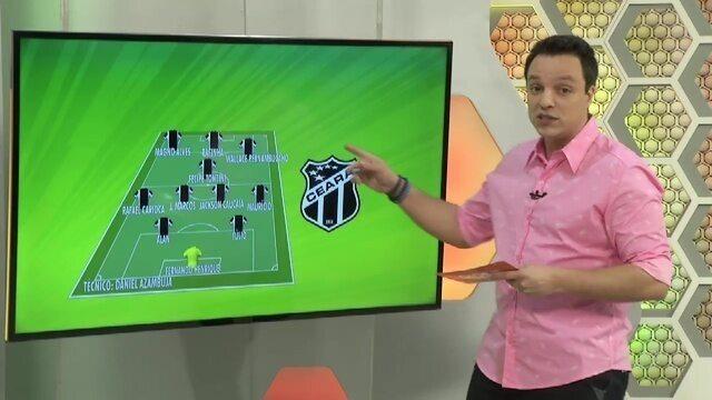 Ceará estreia na Fares Lopes com peças do elenco principal; Confira possível escalação