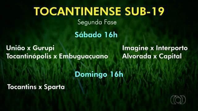 Veja os times que vão se enfrentar na segunda fase do Tocantinense sub-19