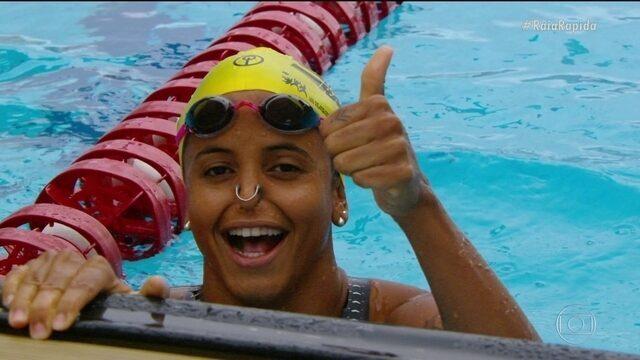 Etiene Medeiros conquista a medalha de Ouro nos 50m costas no Desafio Raia Rápida