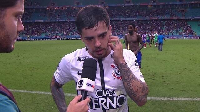 """Fagner analisa jogada do gol do Bahia: """"Erro meu"""""""