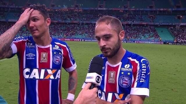 Vinícius e Régis falam sobre gols marcados e a importância da vitória sobre o Corinthians