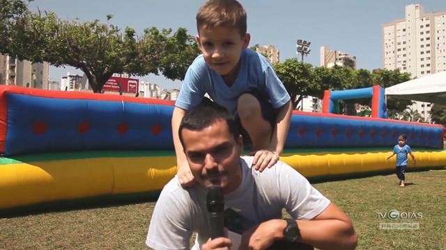 TV Goiás - Goiás leva crianças de uma creche para brincar e aprender pratica esportiva