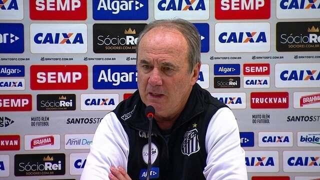 Veja íntegra da entrevista do técnico do Santos, Levir Culpi, após empate com o Vitória