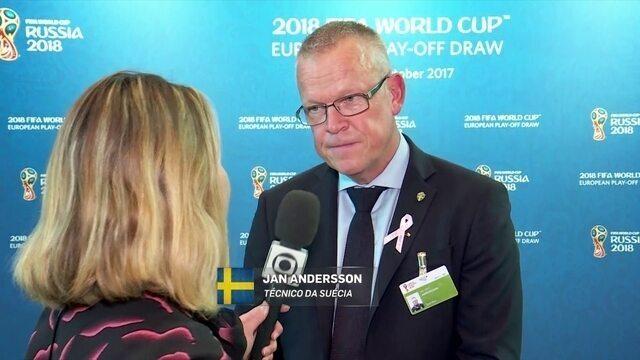 Técnico da Suécia diz que pressão no mata-mata para Copa está com a Itália