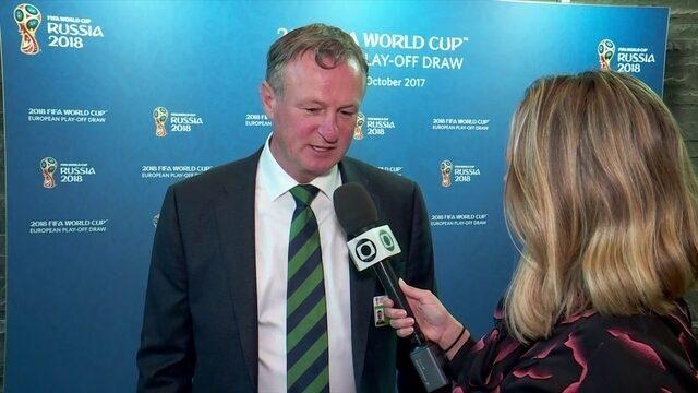 Técnico da Irlanda do Norte se mostra confiante em confronto com a Suíça na repescagem