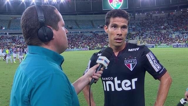Hernanes lamenta imaturidade do São Paulo na derrota para o Fluminense