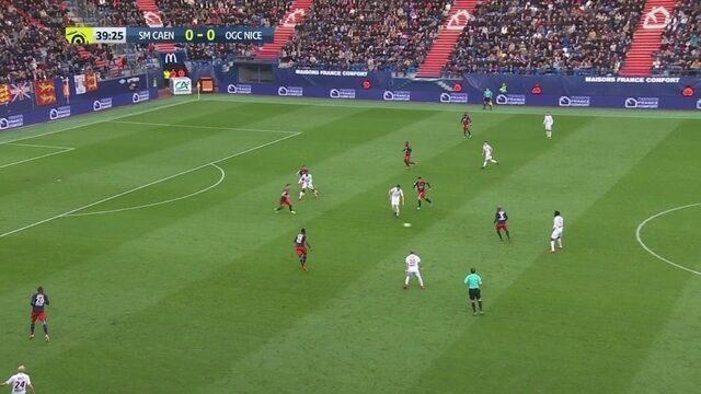 Os gols de Caen 1 x 1 Nice pelo Campeonato Francês