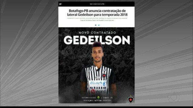 Gedeílson é o novo reforço do Botafogo-PB para a temporada 2018