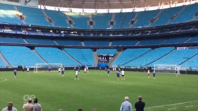 Grêmio faz treino fechado antes de decisão da Libertadores