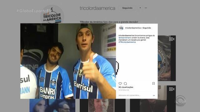 Amigos de Kannemann vão a Arena para assistir final da Libertadores
