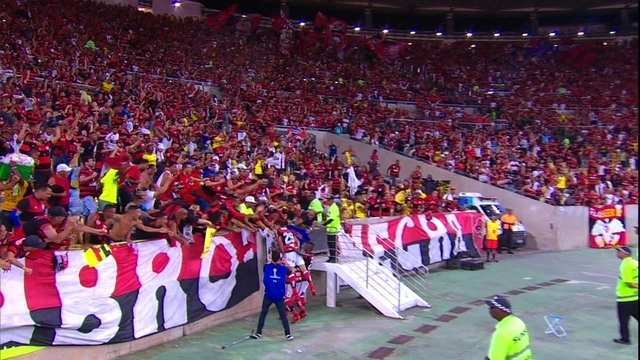 Os gols de Flamengo 2 x 1 Junior Barranquilla pela semifinal da Sul-Americana