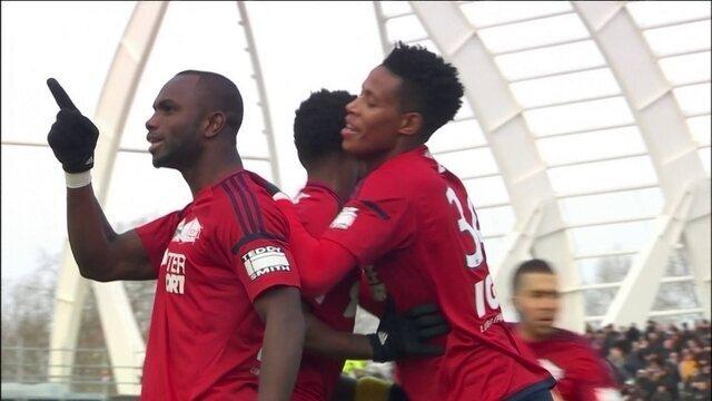 Os gols de Amiens 1 x 1 Lyon pela 17ª rodada do Campeonato Francês