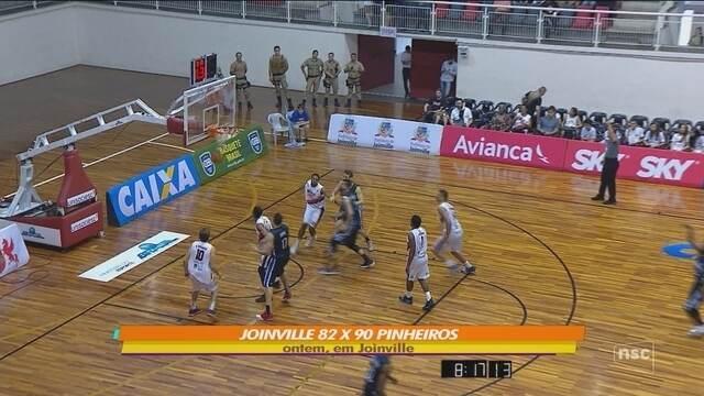 Joinville sofre terceira derrota seguida no NBB