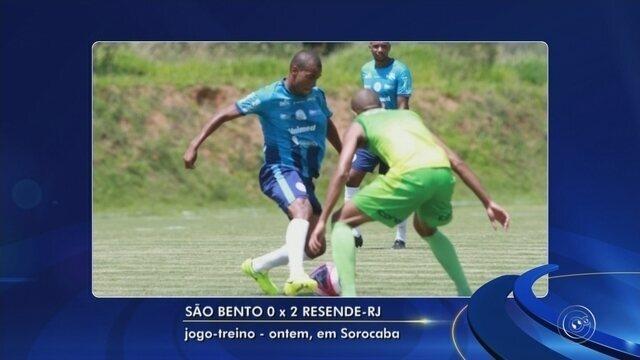 São Bento perde jogo-treino para o Resende-RJ; Clube promove peneira