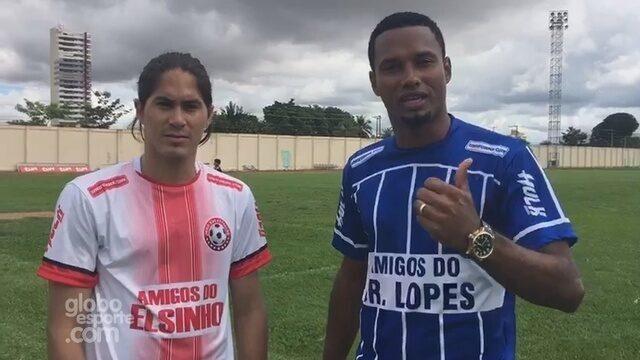 Elsinho e Júnior Lopes fazem Jogo das Estrelas no Aluizão