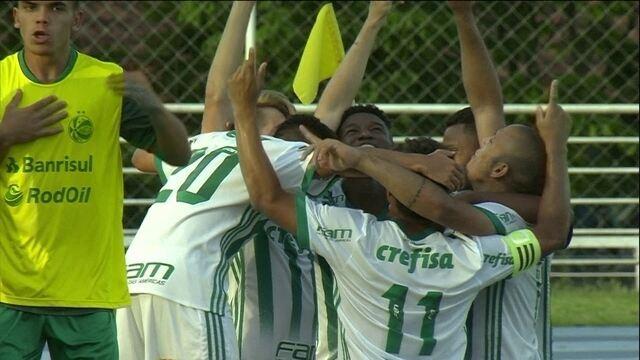 O gol de Palmeiras 1 x 0 Juventude pelas quartas de final da Copa RS de futebol sub-20