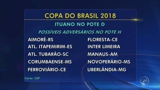Sorteio da Copa do Brasil é nesta sexta-feira; Veja os possíveis rivais do Ituano