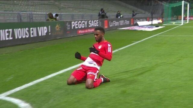 Os gols de Saint Etienne 0 x 4 Monaco pela 18º rodada do Campeonato Francês