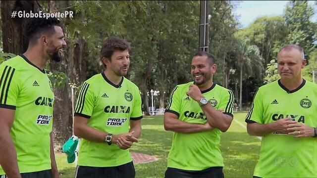 Comissão técnica do Coritiba sabe bem o que é defender o clube
