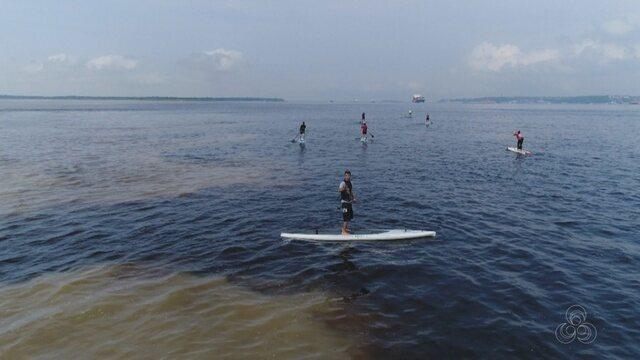 Enconto de Stand Paddle no encontro das águas