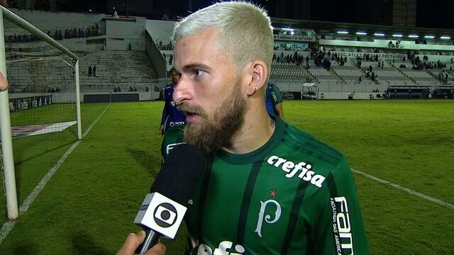 """Lucas Lima analisa empate contra a Ponte Preta: """"Tivemos dificuldades"""""""