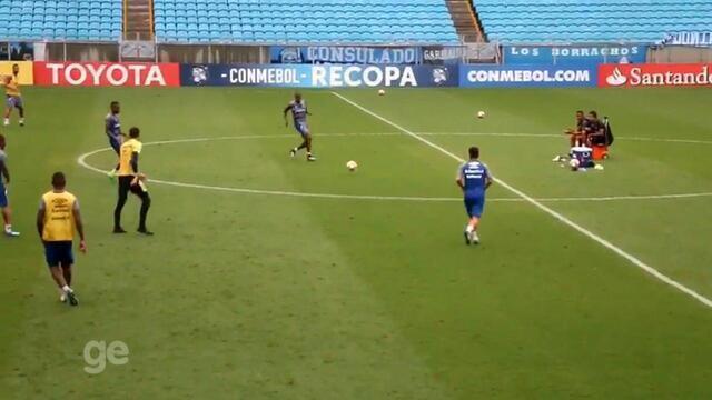 Grêmio faz último treino antes de decisão contra o Independiente