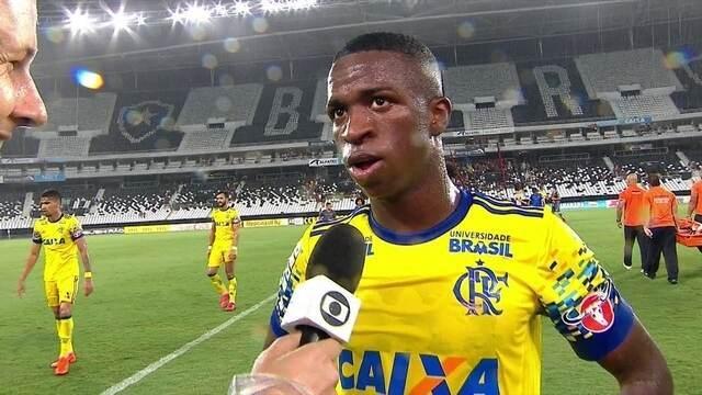 """Vinícius Júnior: """"Eu entrei para consolidar a partida e fazer mais um gol"""""""