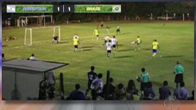 Seleção Brasileira de Futebol de Amputados vence Argentina em torneio Sul-Americano