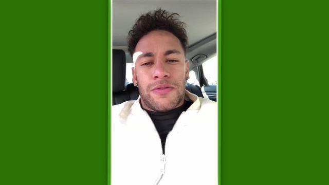 Neymar grava mensagem para filho de ex-jogador que morreu vítima de leucemia