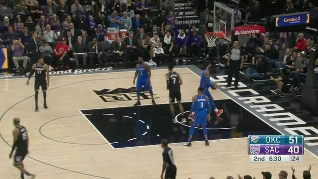 Melhores momentos: Thunder 110 x 107 Kings pela NBA
